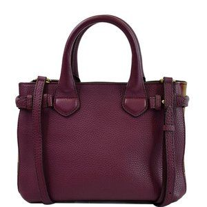 BURBERRY Small Banner Leather House Check Tote